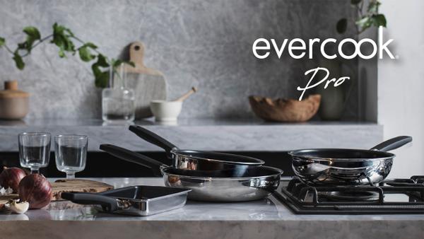 evercookシリーズから 調理性能と外観の美しさを兼ね備えたシリーズ最上位モデルのフライパン『evercook Pro』販売開始!